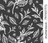 vector floral doodle seamless... | Shutterstock .eps vector #797557771