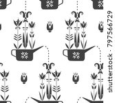 vector spring seamless pattern. ...   Shutterstock .eps vector #797566729