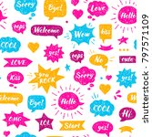 seamless hand drawn pattern....   Shutterstock .eps vector #797571109
