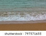 the beach is beautifully... | Shutterstock . vector #797571655