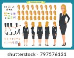 set of businesswoman character... | Shutterstock .eps vector #797576131