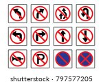 traffic set signs  mandatory ... | Shutterstock .eps vector #797577205