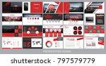 presentation template for... | Shutterstock .eps vector #797579779