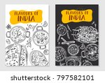 indian food flyer design.... | Shutterstock .eps vector #797582101