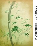 Green Bamboo  Painted In...