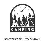 vintage monotone wildlife...   Shutterstock .eps vector #797583691