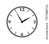 clock illustration with numbers.... | Shutterstock .eps vector #797588731