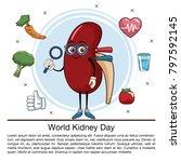 world kidney day infographic...   Shutterstock .eps vector #797592145