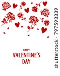 happy valentines day card with...   Shutterstock .eps vector #797593339