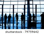 waiting at airport | Shutterstock . vector #79759642