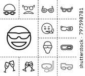 glasses icons. set of 13... | Shutterstock .eps vector #797598781