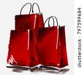 art digital acrylic and... | Shutterstock . vector #797599684