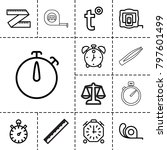 measurement icons. set of 13... | Shutterstock .eps vector #797601499