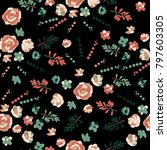 succulents. seamless pattern.... | Shutterstock .eps vector #797603305