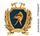 3d illustration. emblem of... | Shutterstock . vector #797606647