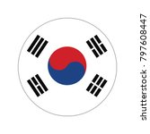 south korea flag button vector  ... | Shutterstock .eps vector #797608447
