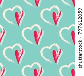 hearts seamless pattern. lovely ... | Shutterstock .eps vector #797612059