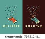 it's a spaceman hand holding an ... | Shutterstock .eps vector #797612461