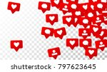 notifications with likes ... | Shutterstock .eps vector #797623645