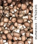 brown champignon mushrooms food ... | Shutterstock . vector #797626141