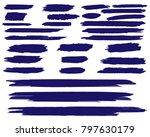 collection of hand drawn dark... | Shutterstock .eps vector #797630179