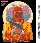 brutal swag gangster with an... | Shutterstock .eps vector #797639701