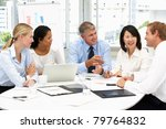 business meeting in an office | Shutterstock . vector #79764832