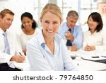 recruitment office meeting | Shutterstock . vector #79764850