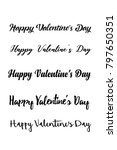 happy valentines day card.... | Shutterstock .eps vector #797650351