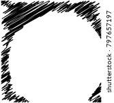 circle hatching grunge graphite ... | Shutterstock .eps vector #797657197