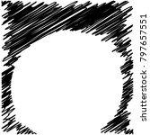 circle hatching grunge graphite ... | Shutterstock .eps vector #797657551