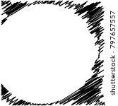 circle hatching grunge graphite ... | Shutterstock .eps vector #797657557