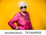 grandmother portrait set in the ... | Shutterstock . vector #797669905