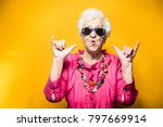 Stock photo grandmother portrait set in the studio concepts about seniority 797669914