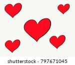 symbol of heart on valentine day   Shutterstock . vector #797671045