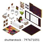 a set of elements for the... | Shutterstock .eps vector #797671051