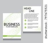 vector brochure flyer design... | Shutterstock .eps vector #797675521