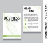vector brochure flyer design... | Shutterstock .eps vector #797675524