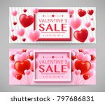 valentines day sale promotional ... | Shutterstock .eps vector #797686831