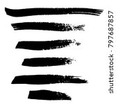 grunge ink brush strokes.... | Shutterstock .eps vector #797687857