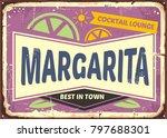 cocktail bar retro sign design... | Shutterstock .eps vector #797688301