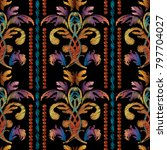 striped embroidery baroque...   Shutterstock .eps vector #797704027