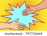handshake  business deal ...   Shutterstock .eps vector #797710669