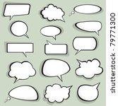 idea bulbs. chat bubbles