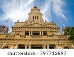 the sydney town hall is a late... | Shutterstock . vector #797713897
