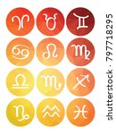 set of horoscope symbols... | Shutterstock .eps vector #797718295