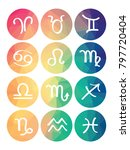 rainbow color web buttons for... | Shutterstock .eps vector #797720404