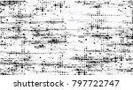 halftone grunge vector seamless ... | Shutterstock .eps vector #797722747