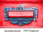 abstract red mailbox or... | Shutterstock . vector #797726614