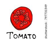 a slice of tomato vector... | Shutterstock .eps vector #797731549
